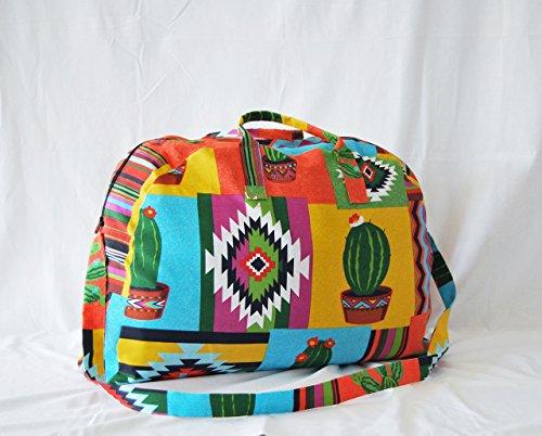 Bolso de viaje estampado mexicano