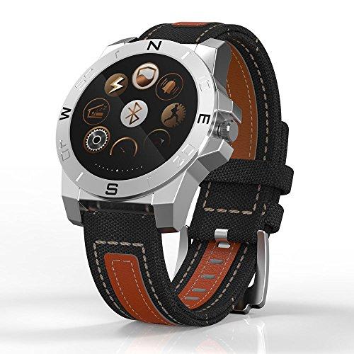 Sport Uhr Bluetooth Smartwatch,wasserdichte Touchscreen mit Schrittzähler,Anrufen/SMS/sitzende Erinnerung für Android IOS