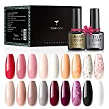 TOMICCA Esmaltes Semipermanentes de Uñas Brillante en Gel UV LED, 20pcs Kit de Esmaltes de Uñas en Gel Soak Off Pintauñas Permanente 18 Colores +Base y Top Coat -04