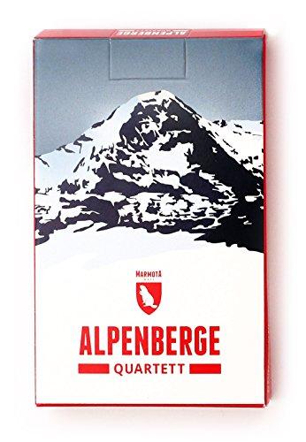 Marmota Maps Alpenberge-Quartett - 32 Berge aus Allen Alpenländern Kartenspiel