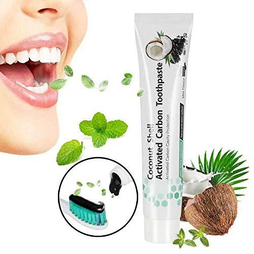 Dentifricio Sbiancante, YEFIDER Dentifricio al carbone attivo, Dentifricio nero, per Eliminare Denti le Macchie