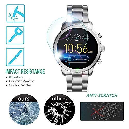 Voor Fossil Gen 3 Q Venture HR beschermfolie, kleurrijk glas film screen protector 9H hardheid [HD-helder] [bubbelvrij] glasfolie gehard glas film