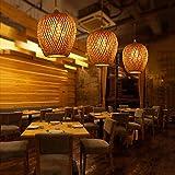 CDSNH Bambú Creativo bambú araña/té Bar lámpara de pie/sudeste de Asia lámpara Corredor Corredor, diámetro Exterior 20 * height23cm