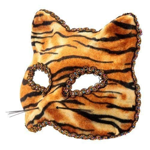 Le caoutchouc plantation TM 619219292535 Tigre vénitien Halloween Il Gatto Félin Cat Fancy Dress Party Bal Bal masqué accessoire de costume, adulte, taille unique