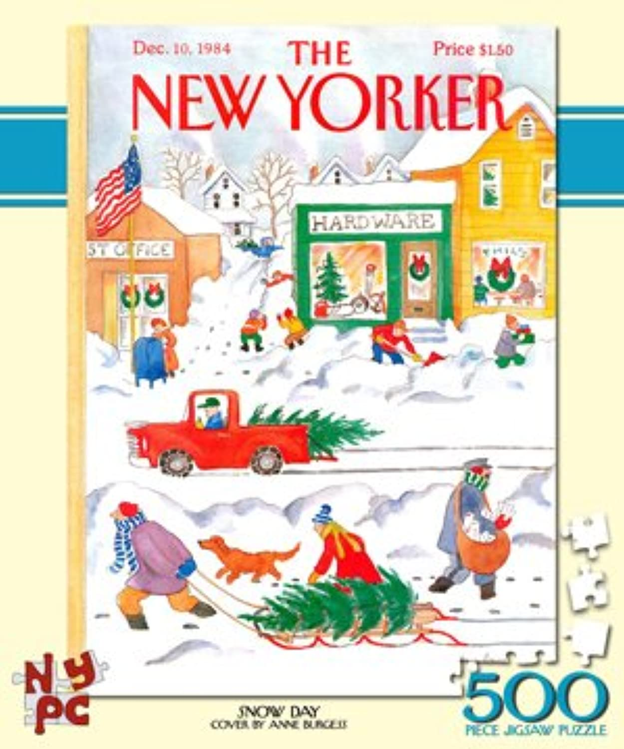 New York Puzzle Company  New Yorker Snow Day  500 Piece Jigsaw Puzzle