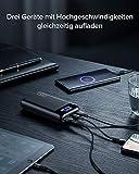 INIU Powerbank, 20W PD3.0 QC4.0 Schnelles Aufladen 20000mAh LED Display Externer Akku, Tri-Outputs USB C Power bank Kompatibel mit iPhone Samsung Huawei Xiaomi Oppo iPad Tablet und mehr [2021 Version] - 6