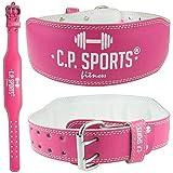 CP Sports Lady Cinturón de piel rosa–Mujeres, Mujer Cinturón De Halterofilia–Apoyo Cinturón, rosa