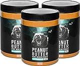 nu3 Peanut Butter (Burro di arachidi) - 3 x 1000 g - Burro di arachidi 100% naturale - Puro burro di arachidi proteico senza zuccheri aggiunti - Produzione controllata