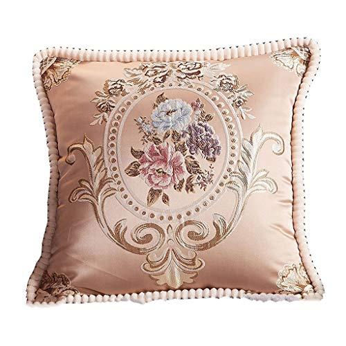 Almohada Reposacabezas de la Cama Cojines de Oficina Almohada Lumbar Almohada para la Siesta Soporte de Almohada para el sofá del Coche (Color: A, Tamaño: 55 * 55 cm)