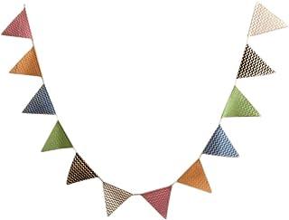 bodas Toruiwa cumplea/ños bautizos comuniones Guirnalda de banderines de yute multicolor para fiestas