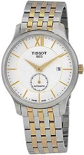 ساعة تيسوت تراديشون أوتوماتيك مينا فضي للرجال T063.428.22.038.00