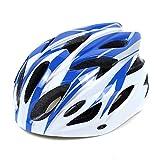 Cobnhdu Casque pour Hommes et Femmes Casque d'équitation de vélo vélo d'équitation en Plein air Casque d'équitation de vélo Casque de vélo de Montagne intégré Moulant (Color : Blue)