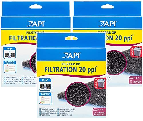 API 3 Pack of Filstar XP Filtration Foam Aquarium Canister Filter Filtration Pads, 2 Per Pack