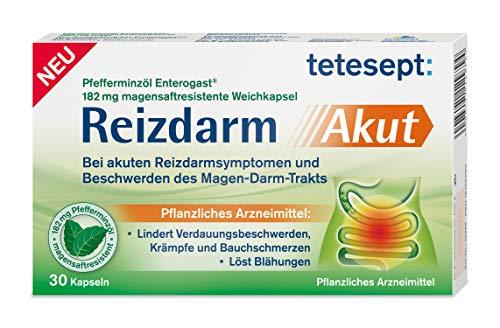 tetesept Reizdarm Akut – Pflanzliches Mittel zur Linderung von Reizdarm-Symptomen – 30 Kapseln