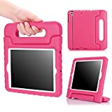 MoKo Case Fit iPad Mini 3/2/1, Kids Shock Proof Handle Light Weight Protective Stand Cover Fit iPad Mini 1 (2012), iPad Mini 2 (2013), iPad Mini 3 (2014), Magenta (Not fit iPad Mini 4)