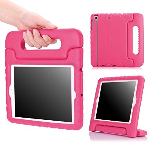 MoKo Hülle für iPad Mini 3/2/1 - Superleicht Eva Stoßfest Kinderfreundlich Kinder Schutzhülle mit umwandelbarer Handgriff Handle und Standfunktion, Magenta (Nicht für Mini 4)