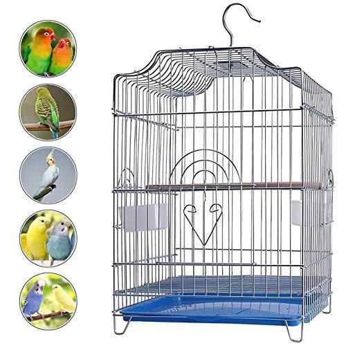 LTLHXM Grande Bird Cage 33 * 31 * 44Cm con Asta E Tazza Voliera Uccelli Maniglia in Alto per Un Facile Accesso Facile da Pulire per Budgie, Parakeet Home And Outdoor Travel,b