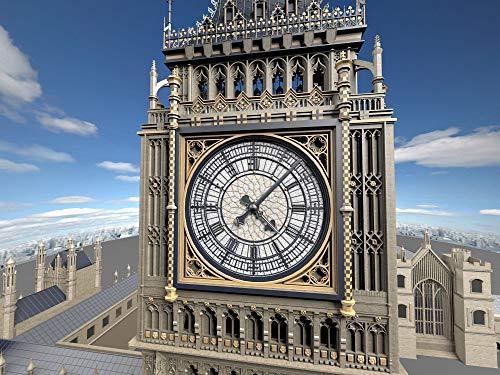 Puzzle 1000 Piezas Famoso Reloj Antiguo Big Ben en Londres, Reino Unido Picture Art Gifts Puzzle 1000 Piezas Adultos Juego de Habilidad para Toda la Familia, Colorido Juego de50x75cm(20x30inch)