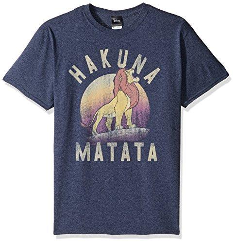 Disney - Maglietta da uomo, motivo: Re Leone Simba Pride Hakuna Matata Warrior - blu - 5XL