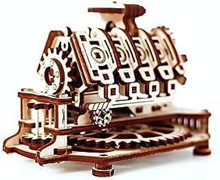 Wooden.City V8 Engine Mechanical Model Kit 14 x 10 x 10.7 cm. [並行輸入品]