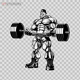 Vinyl Sticker Decals Tough Muscle Gym Training Bodybuilder With Dumbbells Sports Bike D217 2656X