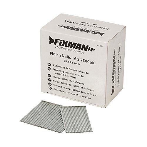 Fixman 807375 2 500 clous de finition calibre 16 50 x 1,55 mm