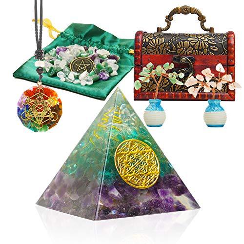 Healing Crystals Orgone Pyramid, Energy Generator...