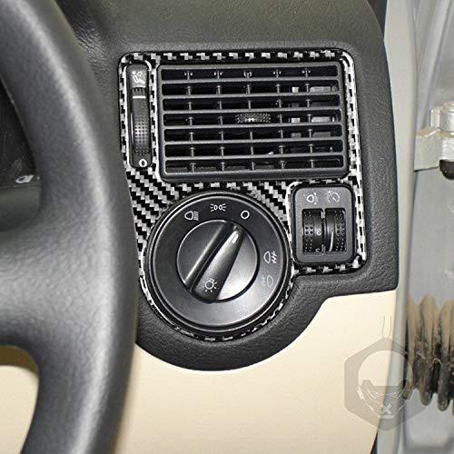 RRX Cubierta de fibra de carbono 2 unids ventana desempañar lados de vidrio marco de ventilación pegatina antideslizante textura efecto 3d mate negro decoración producto para Golf 4 MK4 Trim (RHD)