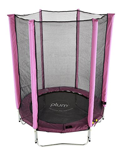 Plum 4.5ft Children's Trampoline and Enclosure - Pink