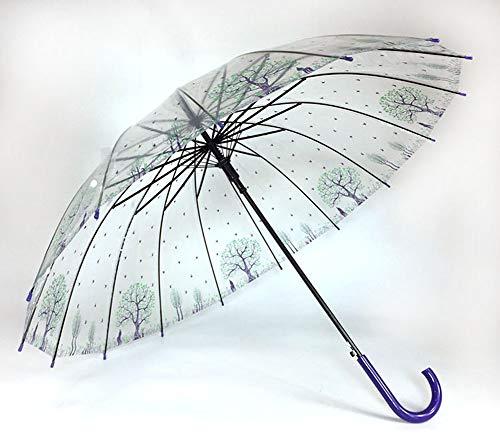 Paraguas transparente de boda para hombre y mujer, paraguas para exteriores, paraguas automático de 8 huesos, resistente al agua, 2 paquetes, 120 x 84 x 83 cm