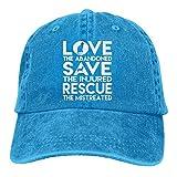 Gorra de béisbol para hombre y mujer, gorra de camionero, de mezclilla Snapback para perro, rescate de animales y gatos, ajustable, seis paneles casqueta para papá y mamá