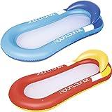 Ideale per l'uso in piscina 2 colori assortiti poggiatesta integrato e fondo in rete Dimensioni: 1,60 m x 84 cm Pezzette per la riparazione incluse