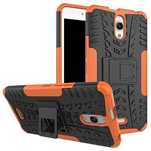 MINGYOUNG beschermhoes voor Alcatel Pixi 4 3G beschermhoes voor Alcatel Pixi 4 3G Armor Case Shock Absorption Bumper Shell Dual Armatura behuizing voor Alcatel Pixi 4 3G, Oranje