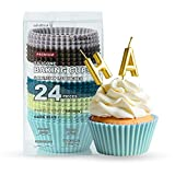 Silicone Cupcake Baking Cups Katbite 24 Pack Silicone Baking Cups Reusable Non-stick Heavy Duty Silicone Cupcake Liners for Baking Soft Pale Muffins Cups for Party Halloween Christmas