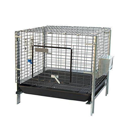 Seny Stackable Rabbit Bunny Guinea Pig Cage with Feeder Water Bottle 25 x 25 x 25 inches