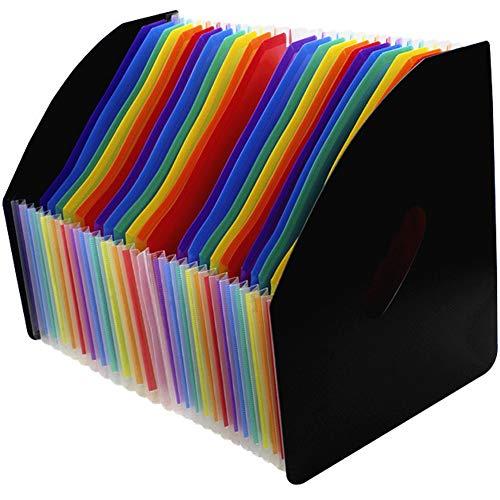 縦型 ドキュメントスタンドa4ドキュメントスタンド 縦ドキュメントスタンド アコーディオン書類ケース ファイルボックス自立型 書類ドキュメントスタンド a4タテ収納スタンド 24ポケットドキュメントスタンドa4 24ポケットファイルボックスA4 大容量 2
