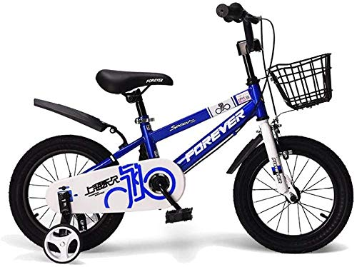 Kids Bike con Ruedas de Entrenamiento Desmontable 2-13 años Niños y niñas 12/14/16/18 Pulgadas Bicicletas de Carretera Negro Rojo Azul-Azul_18 en