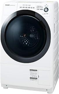 シャープ ドラム式 洗濯乾燥機 ヒーターセンサー乾燥 左開き(ヒンジ左) 洗濯7kg/乾燥3.5kg ホワイト系 幅640mm 奥行600mm DDインバーター搭載 2019年モデル ES-S7D-WL
