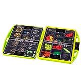 WINOMO Kit de Aparejos de Pesca señuelos cebos Pesca Set de Accesorios para Agua Dulce Agua Salada (Verde)