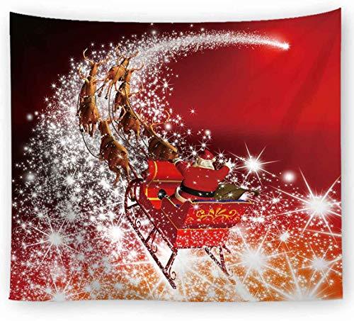 xkjymx Hängender Dekostoff Weihnachtsdruck Tapisserie Bild 17 150X100cm