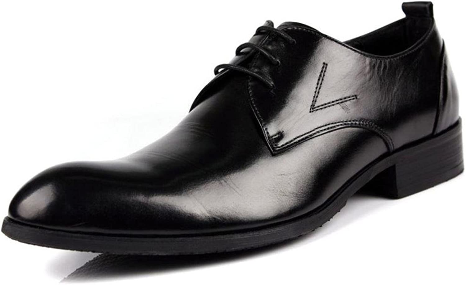 Mans Mans Mans Business läder Lace -up skor Flat Springaa Dress bspringaaa svart Points Single Casual Oxfords Storlek 38 -44  märken online billig försäljning