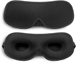Sleep Eye Mask for Men Women, 100% Blackout Eye Mask for Travel with Adjustable Strap