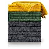 Blumtal Set de 8 Bayetas Microfibra - Paños de Microfibra, Bayeta Multiusos de Microfibra, Juego de paños de Cocina, Paño de Microfibra para el Coche (30x40cm), 4 Antracita + 2 Amarillas + 2 Verdes