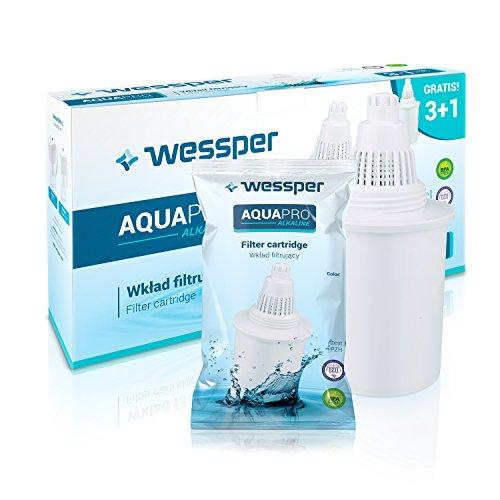 Wessper 4 Alkalische Wasserfilterkartusche AQUApro-7-Phasen-Ionisator-Filtersystem - Gesundes Wasser, Weiß