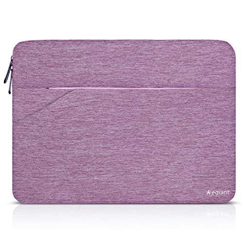 Laptop-Hülle 15,6 Zoll, Egiant Schlanke, wasserfeste Notebook-Tasche für ASUSF555LA / MB168B / X551, Aspire 15.6 / Chromebook 15 / Dell Inspiron 15.6 / HP Pavilion 15.6, Schutzhüllen für Computer-lila