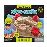Brookstone Play Sand Kit for Kids with Sand Castle Molds, Play Mat, and Sand