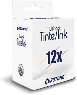 12x Müller Printware Patronen für Epson PX660 R360 RX685 PX700 PX800 R285 RX585 PX730 PX650 PX710 PX830 RX560 P50 R265 RX595 PX720 PX820 ersetzt T0801 06 Set