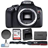 Canon EOS Rebel T6 Digital SLR Camera (Body Only) Wi-Fi Enabled + High Speed 32GB Memory Card and Cleaning Kit