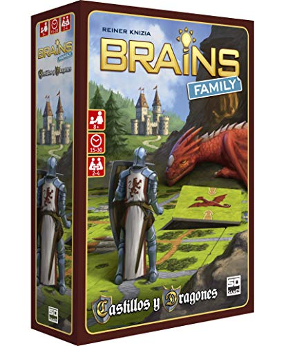 SD GAMES- Brains Family: Castillos y Dragones, Multicolor (SDGBRAINS04)