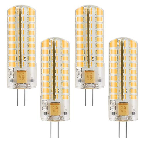 MENGS 4 Stück G4 LED Lampe 7W AC/DC 12V Warmweiß 3000K 72x2835 SMD Mit Silikon Mantel